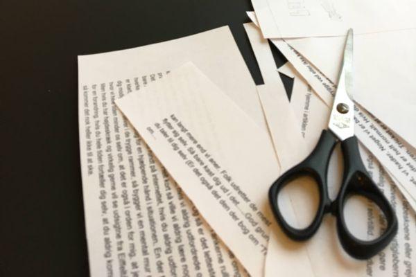 Cut-up-teknikken, og hvad en saks kan gøre for din lunkne tekst