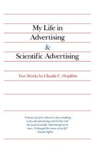 Forsiden på My life in advertising og Scientific Advertising