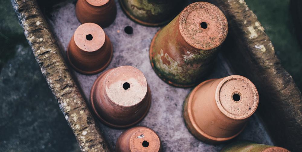 Find på alternative anvendelser af en urtepotte