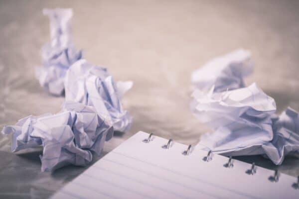 Frygt i skriveprocessen